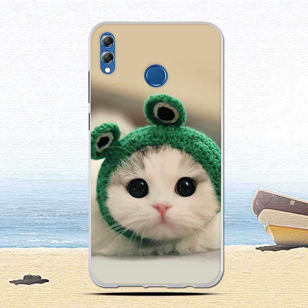 ファッションカラフルな動物 TPU ケース Huawei 社の名誉 8X 最大/最大楽しむ超薄型シリコーンソフト TPU カバープリント Fundas coque ケース s