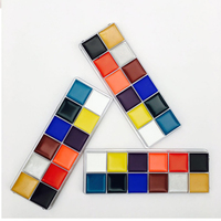 1 Set 12 Colors Body Paint Palette Flash Tattoo Face Art Oil Painting Halloween Party Fancy
