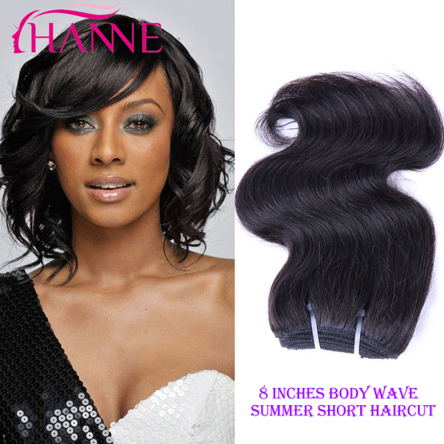 Hair Bundles 1 Piece 50g Malaysian Body Wave Virgin Short Weaves