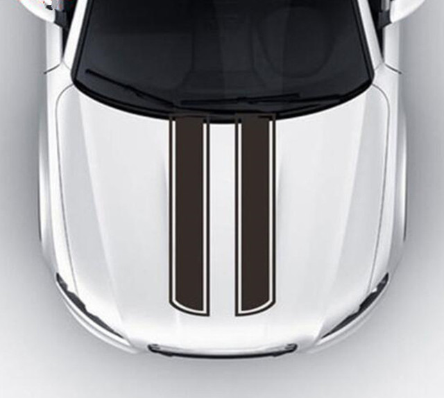 Car Stickers Hood Engine Cover Diy Stripe Decoration Reflective For
