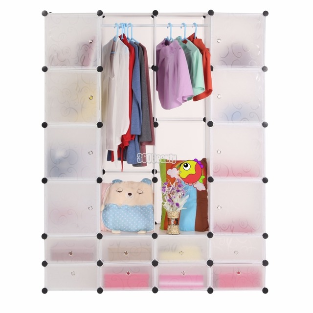 Мода Многофункциональный Шкаф Для Хранения Одежды Шкаф Организации Коробку Белого