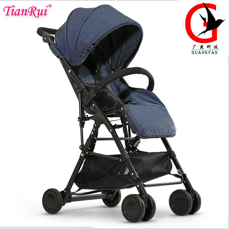 TIANRUI Lightweight Baby Stroller 3.6KG 4 Free Gifts Folding Carriage Buggy Pushchair Pram Newborn Infant Car 7 styles certified baby products baby buggy stroller with pad 600d oxford fabric kids pram and strollers 4 colors infant carriage on sale