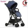 Tianrui carrinho de bebê leve 3.6 kg 4 brindes folding carriage buggy pram pushchair bebê recém-nascido car 7 estilos