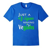 """Just a vegan making vegains"" t-shirt"