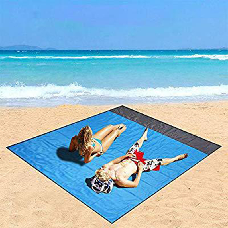 Extra Large 2m*2m Sand Proof Beach Blanket Outdoor Beach Towel Picnic Mat ^/_^