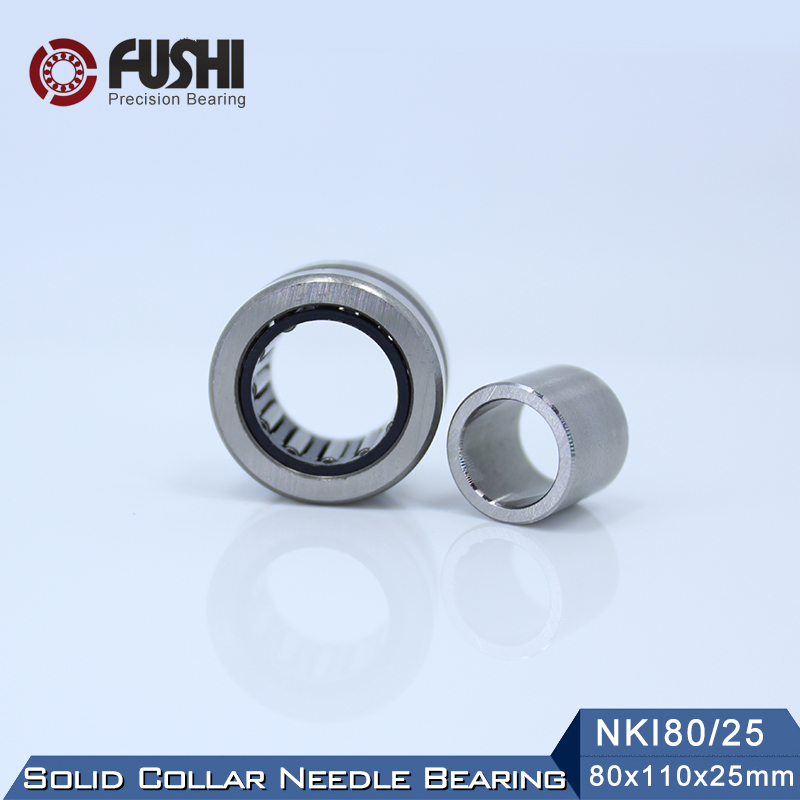 NKI80/25 Bearing 80*110*25 mm ( 1 PC ) Solid Collar Needle Roller Bearings With Inner Ring NKI 80/25 Bearing цена
