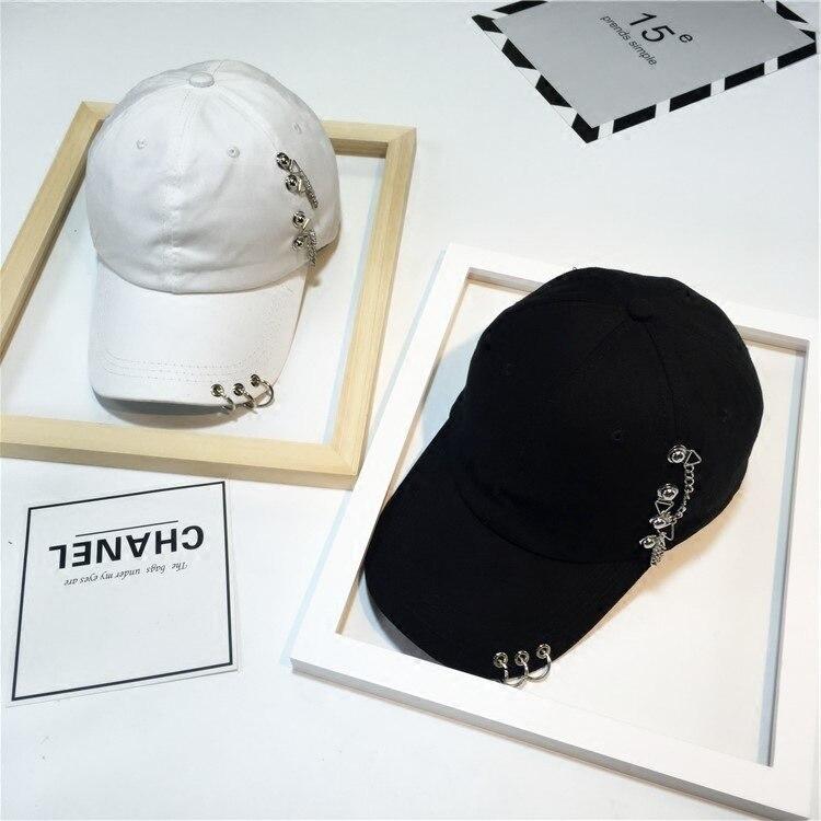 Fashion Baseball Caps Harajuku Style Hip Hop  Unisex Hats Snapback Punk Metal Hoop Hats  High Quality Snapback Cap Iron Hoop
