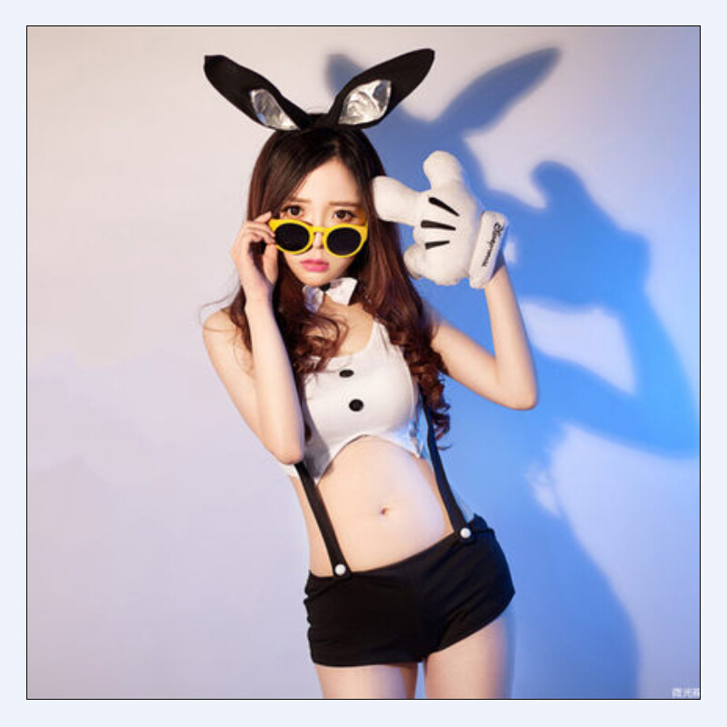 Buy 2015 Free Shipping Sexy Bunny Girl costumes Low-cut dresses sexy lingerie sex toys cosplay uniform Rabbit role playing clothing