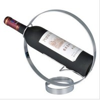 Stainless Steel Red Wine Holder Circle Shape wine stand decoration