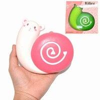 Green Snail Kiibru Squishied Jumbo 12cm Slow Rising Phone Squeeze Toy Cute Cartoon Doll Cream Scented