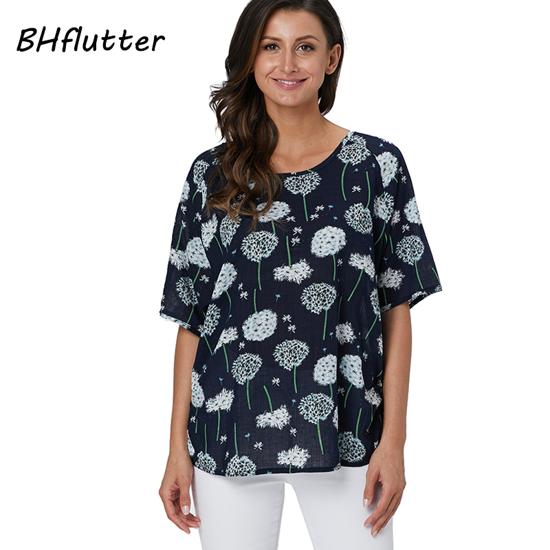 155aeb42911 BHflutter Womens Tops and Blouses Plus Size 2019 New Arrival Short ...