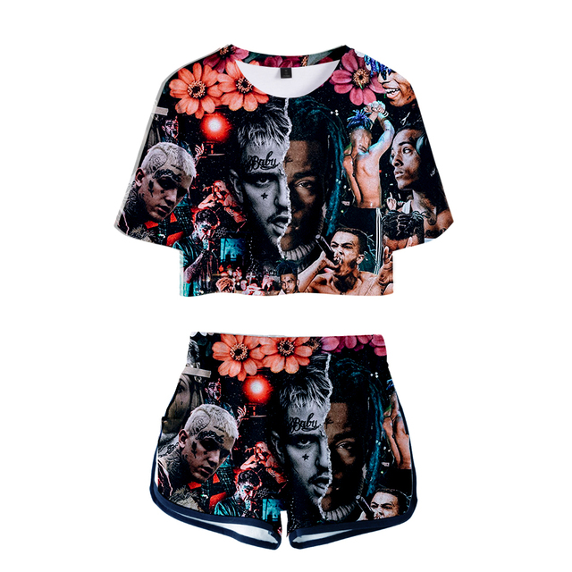 Summer Hip Hop Sexy Crop Tops+Shorts Rappers