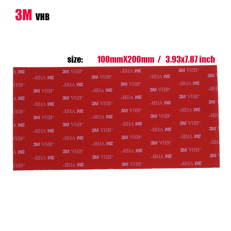 Office Stationery Double-Sided 3M VHB Large 100x200 Mm Gray Double-Sided Adhesive Installation Acrylic Foam Car Jewelry Tape