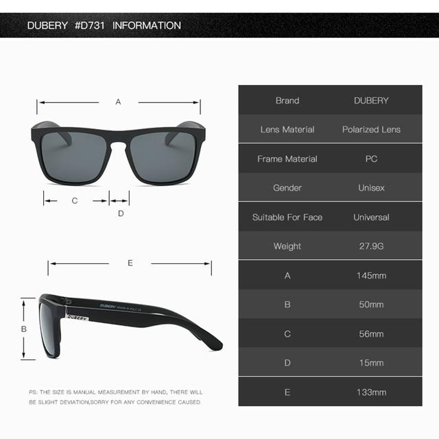 DUBERY Polarized Sunglasses Men's Driving Shades  2
