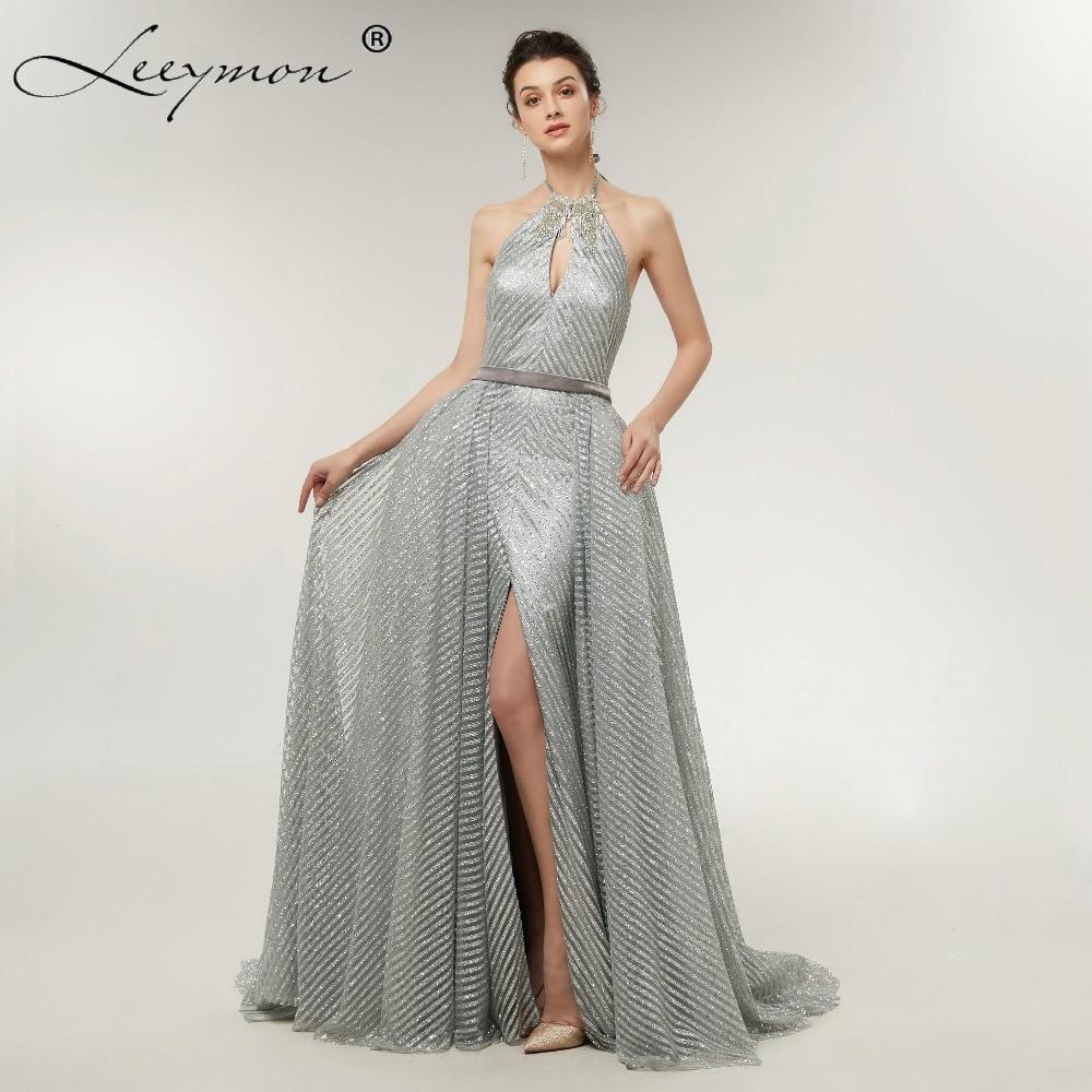 Designer Cocktail Dresses: Aliexpress.com : Buy 2018 Sparkling Silver Gray Halter