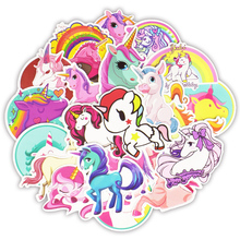 30pcs Not repeat Unicorn Sticker Anime Cute Decals Stickers Gifts for Children to Fridge Suitcase Car Laptop Bicycle Guitar