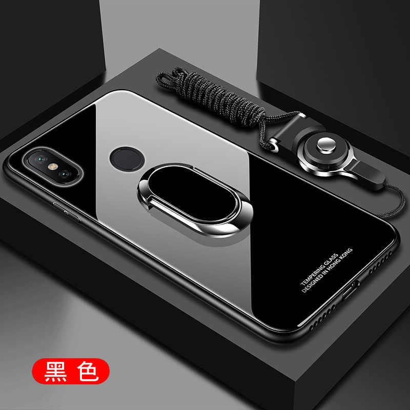 ため xiaomi mi 8 Lite 8Se ケース強化ガラスとスタンドリングマグネット裏表紙用 xiaomi mi A1 A2 lite 6 mi × 2 S 3 Pocophone F1