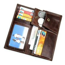 Rfid Blocking Man Wallet Leather with Coin Pocket&Credit Card Holder High Quality Cowhide Leather Men Clutch Bags Long Wallets