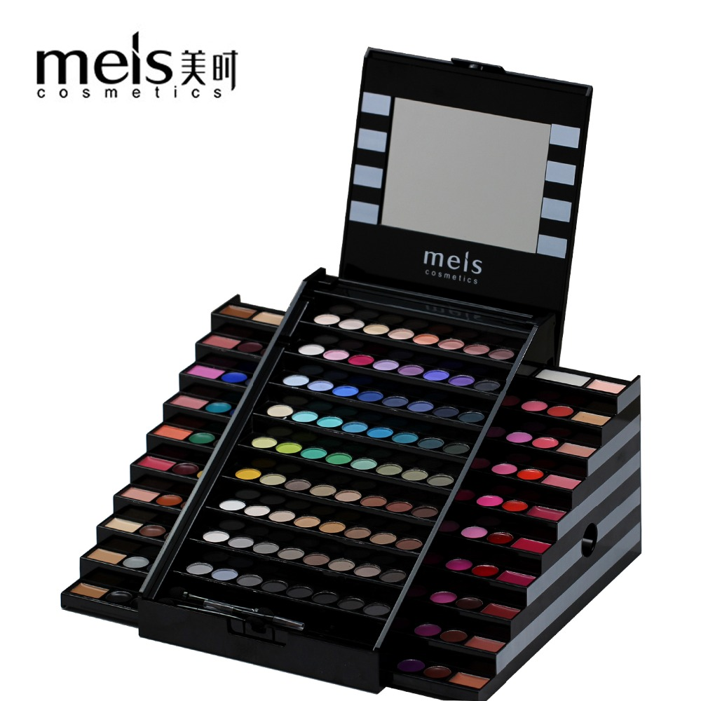 2017 New MEIS Brand Makeup Set 130 Colors Professional Makeup Matte Eye shadow Concealer Make up Palette Lip Glass Blusher 0130