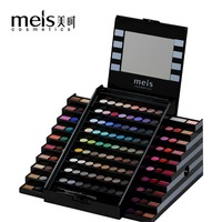 2017 Nueva Marca de MEIS Maquillaje Set 130 Colores de Maquillaje Profesional Corrector de maquillaje Paleta de sombra de Ojos mate Cristal Labio Colorete 0130