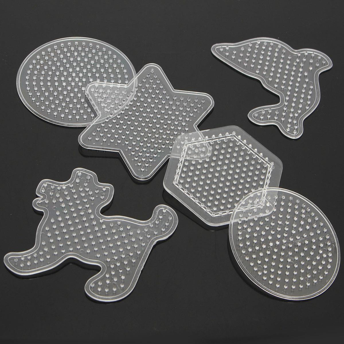 Cheapest Clear 9 Pattern Template Fuse Hama Beads DIY Hand Making Toy Pegboard Children Kid Education