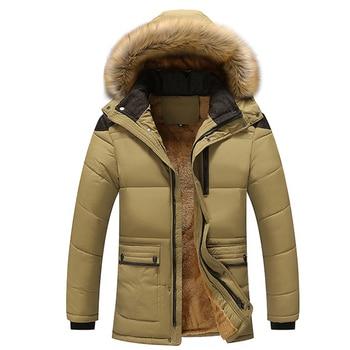 Winter Fashion Faux Fur Hoodie Long Sleeve Zipper Pocket Coat Men Warm Outwear