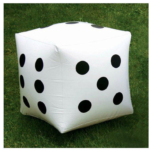 MACH 2 pcs. White Large Inflatable Dice Favors Pool Toys