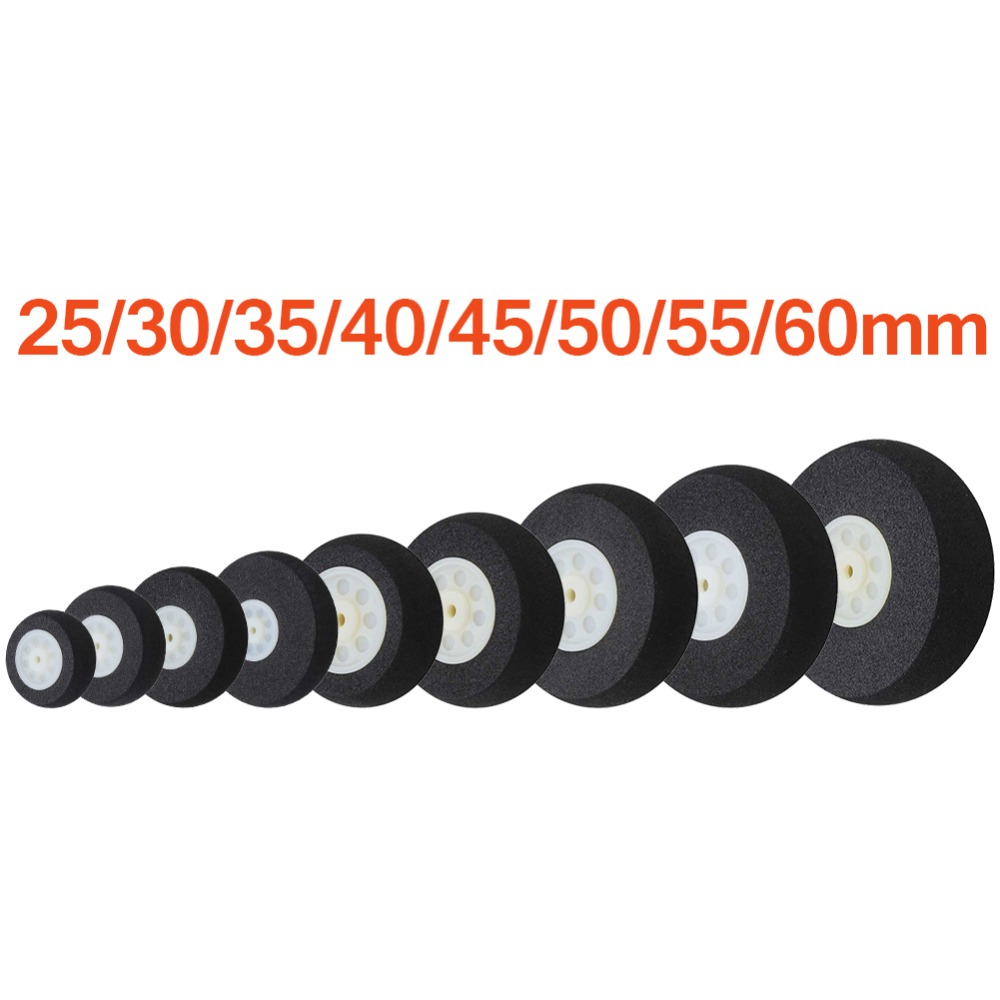 Light Foam Tail Wheels Sponge 25mm 30mm 35mm 40mm 45mm 50mm 55mm 60mm For RC Remote Control Airplane Replacement Parts image