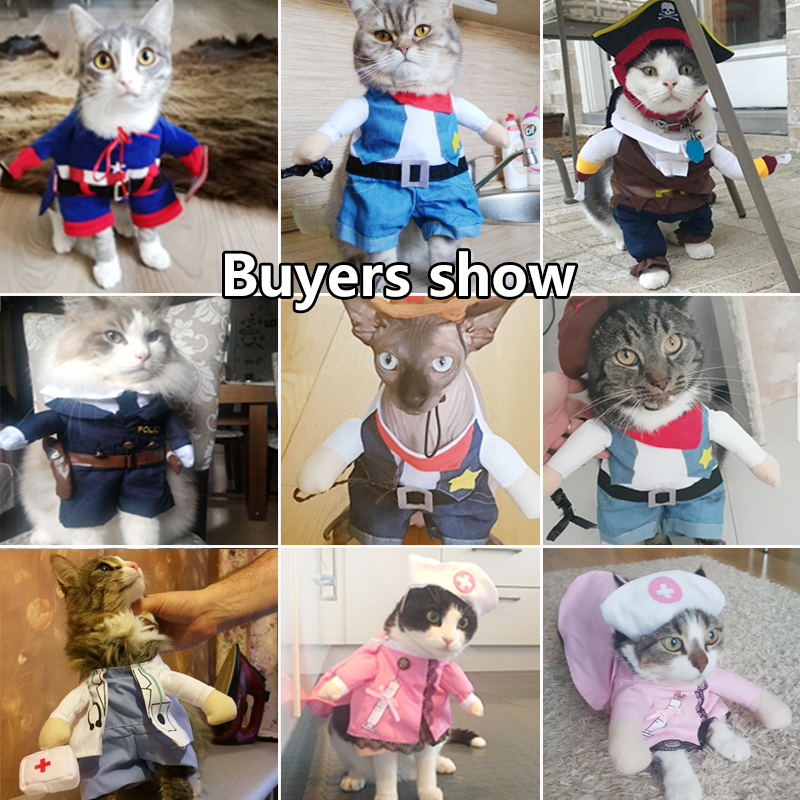 Cat Clothing Funny Cat Clothes Pirate Suit Clothes For Cat Costume Clothing Corsair Halloween Clothes Dressing Up Cat Party Costume Suit 31a1 Home & Garden