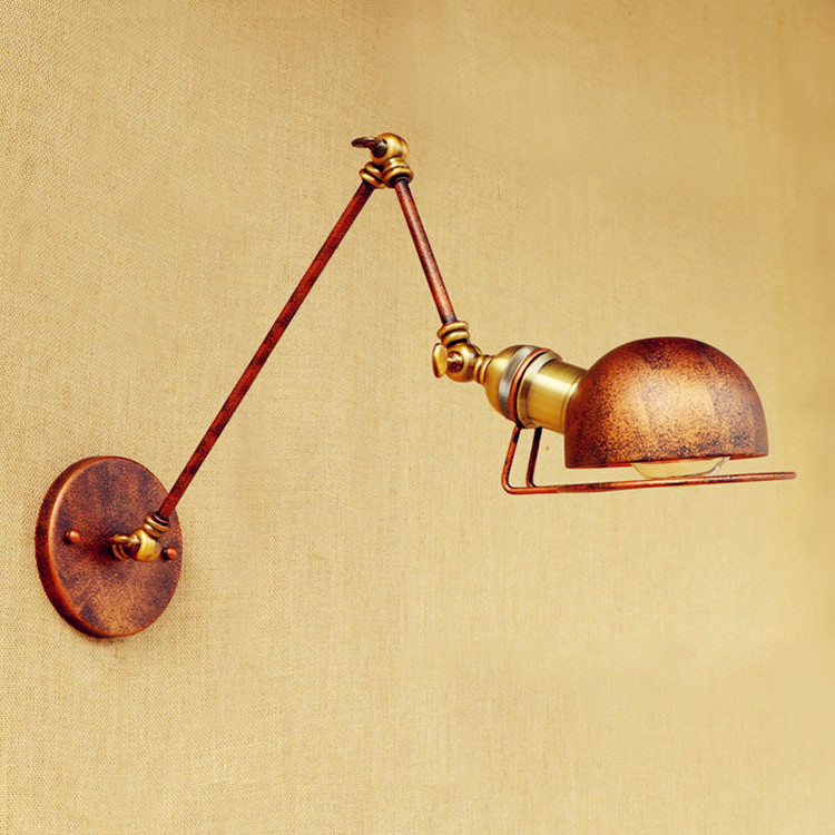ФОТО Sconce Antique Loft Industrial Vintage Wall Lights For Home Lighting Swing Long Arm Wall Lamp Arandelas Appliques Pared