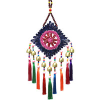 aeolian bells straw plaited article tassel ornament Brass bell drawing room ethnic style Hang on the door decoration home