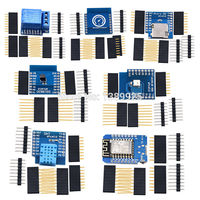 2017 Hot Sale 7 Kinds WeMos D1 KIT WiFi Board D1 Mini DS18B20 WS2812 Micro TF