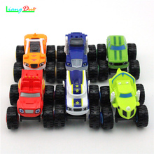 цена на New Flame and Machine Monster Scooter Six Red Racing Boys and Girls Toy Cars Birthday Gifts Children's Interactive Monster Toys