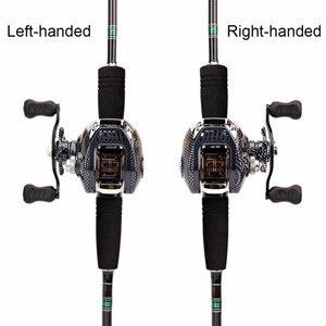 Image 4 - 6.3:1 Baitcast moulinet de pêche 13 portant grande ligne capacité léger gaucher droitier appât coulée pêche roue outil