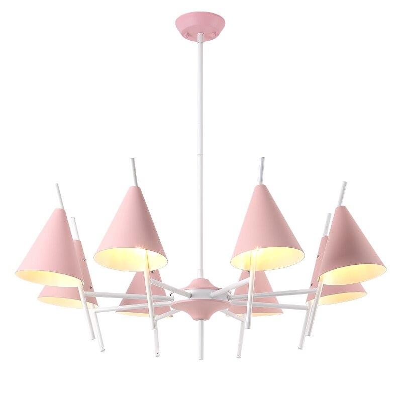 Nouveauté poste nordique lustre moderne macaron vert rose jaune LED foyer chambre restaurant luminaire
