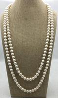 65 дюймов длинные жемчужные ювелирные изделия белого цвета пресноводного жемчуга ожерелье, AA 10 11 мм настоящий жемчуг ювелирные изделия, любо
