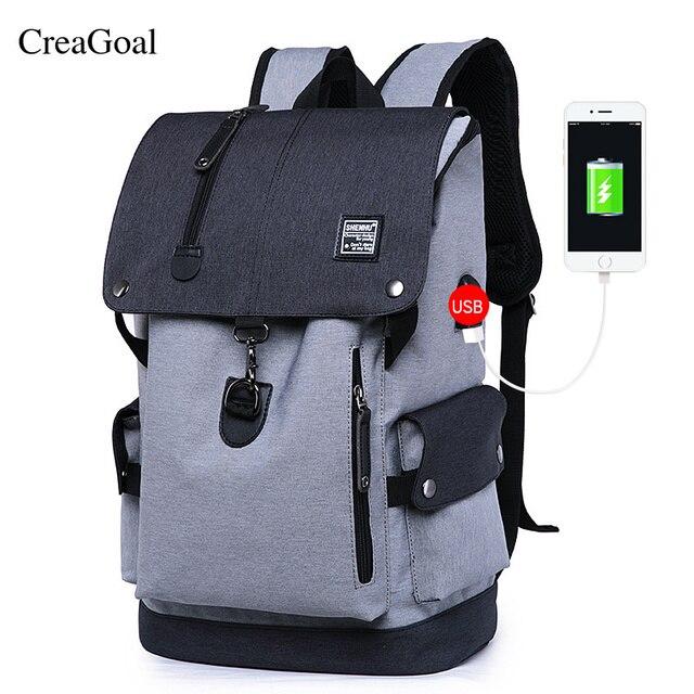 Fashion Men Backpacks Usb Charging Anti Theft Backpack Waterproof Bag Mate Casual Large Capacity Travel