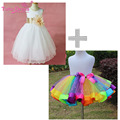 2017 Girl Dress Girls Summer High-grade Wedding Dresses Children Embroidered Party Dresses Bridesmaid Dress Girl Kids Clothes