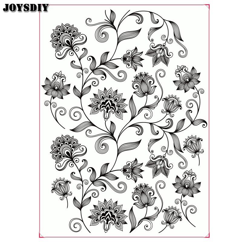 Beautiful flowers circle Scrapbook photo cards account