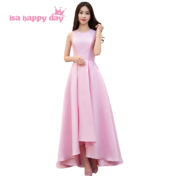 bridemaides women formal satin bridal pink gowns bridesmaids dresses ...