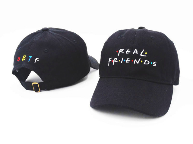 Embroidery Real Friend Dad Hat