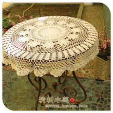 Japan style  high end 100% cotton crochet table cover for wedding decoration with popular flower design handmade craft