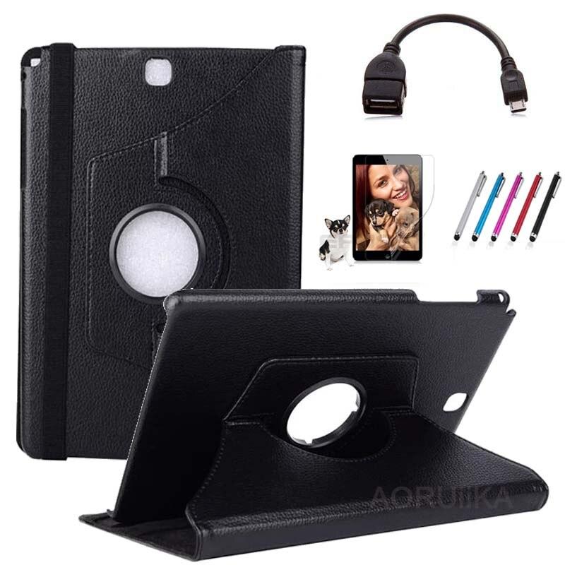 Cover Tablet-Case T555 Galaxy Tab SM-T550 Samsung PU For Screen-Saver Stylus OTG OTG