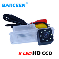 Plastic shell material glass hd ccd lens 170 angle car reversing camera with 8 led for Volkswagen golf 6/ Magotan