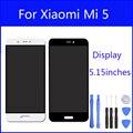 Lcd original para xiaomi mi 5 m5 mi5 pro prime Digitador Da Tela de Display Touch Screen Substituição Do Painel de Vidro de 5.15 Polegada FreeTools