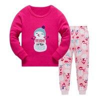 New Kids Boys Girls Snowman Pajama Set Long Sleeve Tops Pure Pant Nightwear Toddler Baby Boys