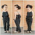 2016 verão conjunto de roupas crianças meninas em forma de coração + conjunto de roupas crianças roupas de verão macacão de 2 peça