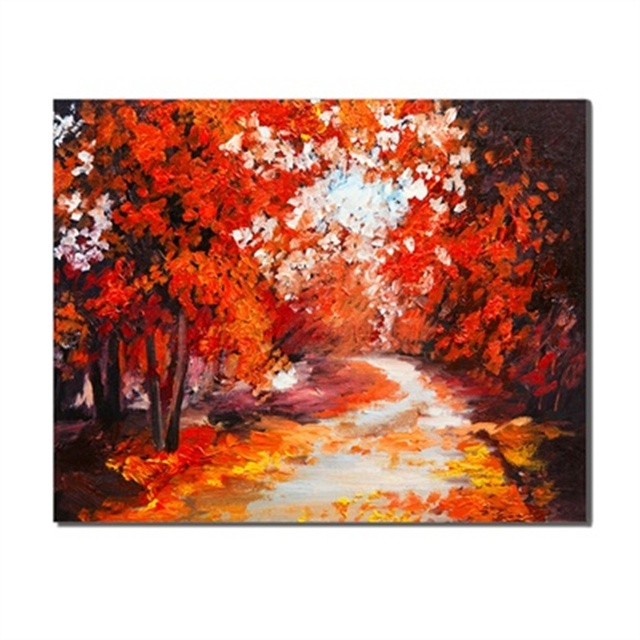 Frameless Poster Forest River Fashionable Creative Artworks Decoration Canvas Print Oil Painting Living Room Unique Gift On Wall