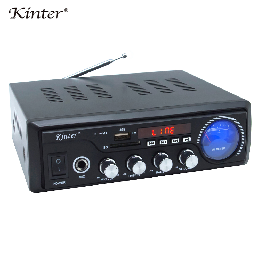 Kinter M1 home amplifier 2Channel USB SD FM MIC input Support audio and video playing through a player keep stereo sound