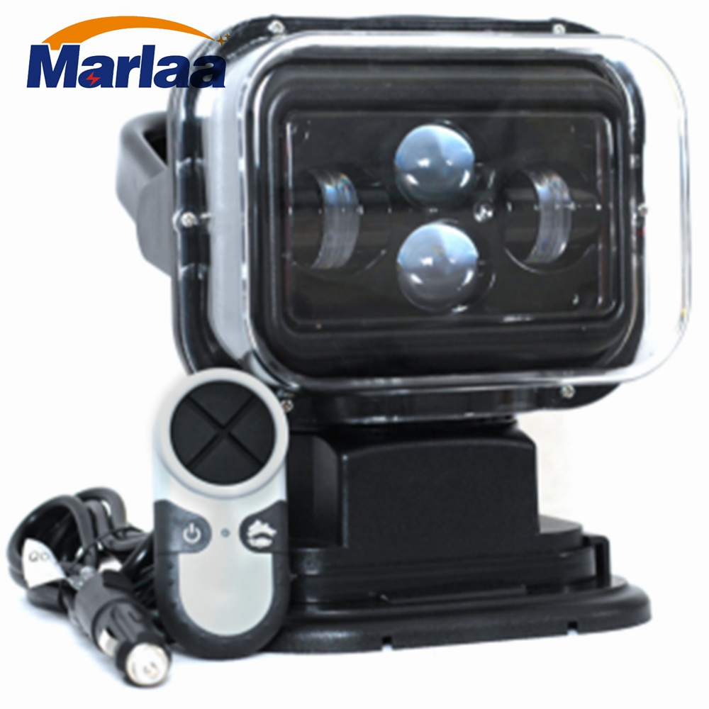 Marlaa 60W DC 12V LED Searchlight Wireless Remote Control Spotlight Magnetic Base for Car Boat Vehicles